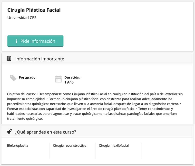 master no reglado cirugia plastica facial