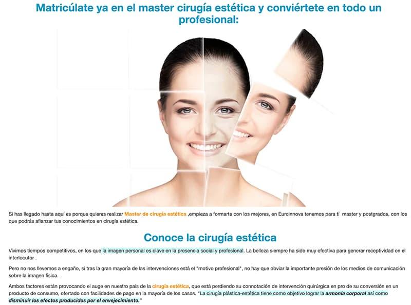master no reglado cirugia plastica y estetica